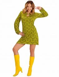 Groovy groen jaren 70 kostuum voor vrouwen