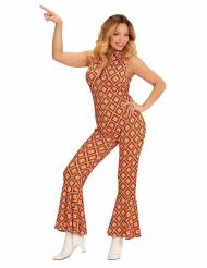 Groovy retro jaren 70 pak voor vrouwen