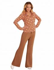 Jaren 70 retro blouse voor vrouwen
