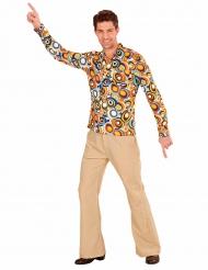 Groovy jaren 70 bubbel blouse voor mannen