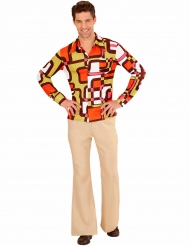 Groovy jaren 70 disco blouse voor heren