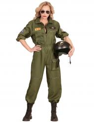 Gevechtspiloot kostuum voor vrouwen