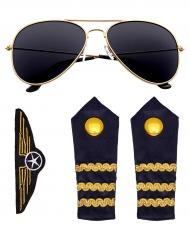 Vliegtuigpiloot accessoire set voor volwassenen