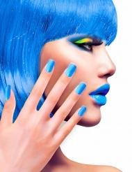 Zelfklevende nep nagels blauw