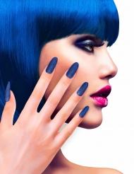 Zelfklevende nep nagels blauw met glitters
