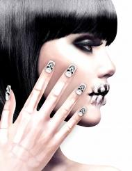 Zelfklevende nep nagels doodshoofd