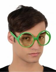 Groen bril met glitters voor volwassenen