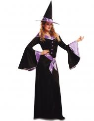 Paars en elegant heks kostuum voor vrouwen