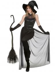 Zwarte sexy heks kostuum voor dames