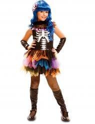 Regenboog skelet kostuum voor meisjes