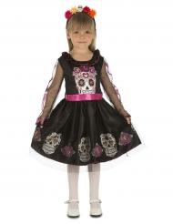 Mini calaveras Dia de los Muertos kostuum voor meisjes