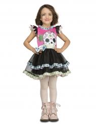 Kleine doodskop Dia de los Muertos outfit voor meisjes