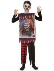 Enge clown kaart kostuum voor kinderen