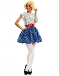 Pop art vintage kostuum voor vrouwen