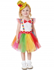 Tutu clown kostuum voor meisjes