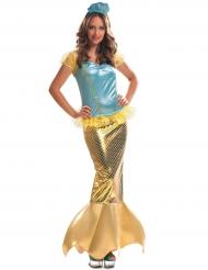 Goudkleurig zeemeermin kostuum voor vrouwen