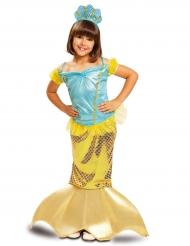 Goudkleurig zeemeermin kostuum voor meisjes