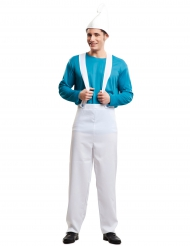 Blauwe kabouter kostuum voor mannen