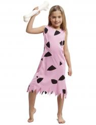 Roze prehistorisch kostuum voor meisjes