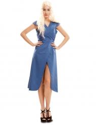 Blauw draken koningin kostuum voor vrouwen