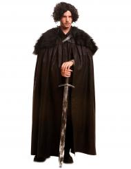 Zwarte bewaker cape voor mannen