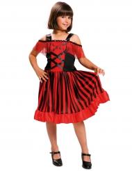 Gestreept Spaanse danseres kostuum voor meisjes