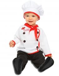 Kleine kok kostuum voor baby