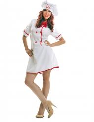 Chef kok kostuum voor vrouwen