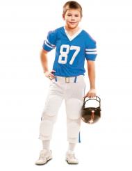 Blauw American Football kostuum voor jongens