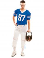 Blauw American Football kostuum voor mannen
