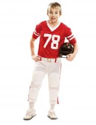 Rood American Football kostuum voor jongens