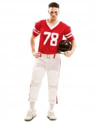 Rood American Football kostuum voor mannen