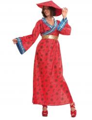 Rood Chinees kostuum voor vrouwen