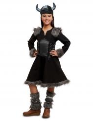 Zwart viking kostuum voor meisjes