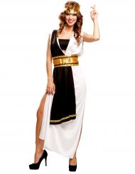 Zwart en wit Romeinse keizerin kostuum voor vrouwen