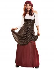 Middeleeuws serveerster kostuum voor vrouwen