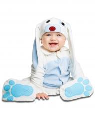 Deluxe blauw konijn kostuum met speen voor baby