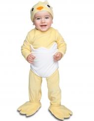 Luxe kuiken kostuum met speen voor baby