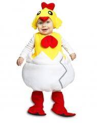Kuiken in eierschaal kostuum voor baby