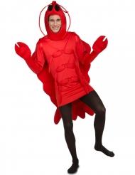 Rode kreeft kostuum voor volwassenen