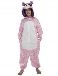 Roze beer kostuum voor kinderen