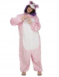 Roze beer kostuum voor vrouwen