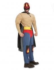 Gevoerd worstelaar kostuum voor volwassenen