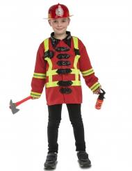 Brandweer kostuum met accessoires voor kinderen