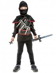 Zwart ninja kostuum met accessoires voor kinderen