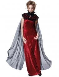 Zwarte gothic sluier cape voor vrouwen