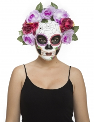 Pastelkleurig skelet Dia de los Muertos masker voor volwassenen