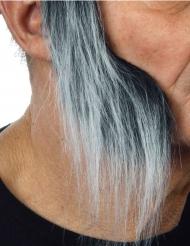 Lange grijsachtige bakkebaarden voor volwassenen