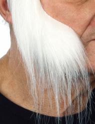 Lange witte bakkebaarden voor volwassenen