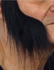 Lange zwarte bakkebaarden voor volwassenen
